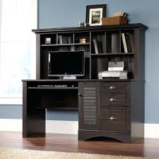 corner office desk hutch. corner l shaped office desk with hutch black and cherry best for home classic your depot