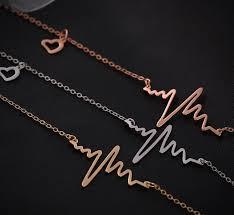whole ekg charm necklace electrocardiogram pendant heartbeat heart rhythm ecg china jewelry whole ecg jewelry valentine day gift costume jewellery