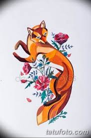 эскизы тату лисы для девушек 08032019 009 Tattoo Sketches