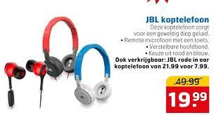 jbl koptelefoon. jbl koptelefoon folder aanbieding bij trekpleister - details jbl