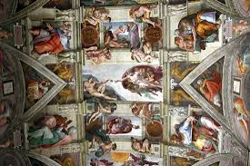 michelangelo biography facts accomplishments com detail of a ceiling fresco by michelangelo 1508 12 in the sistine chapel