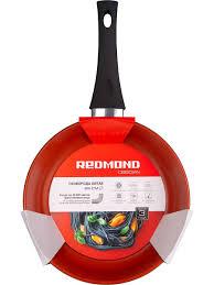 Сковорода литая Obsidian 26 см с ручкой soft-touch REDMOND ...