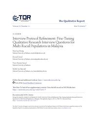 Pdf Interview Protocol Refinement Fine Tuning Qualitative Research