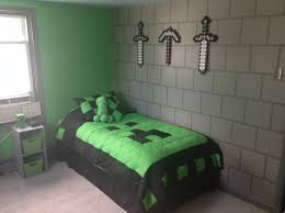 Minecraft Bedroom Wallpaper My Sons Awesome Minecraft Bedroom Noahs Bedroom Pinterest