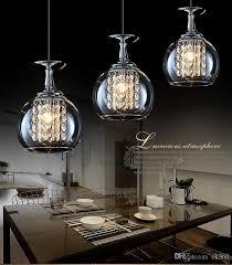 modern crystal pendant lighting. Modern Clear Wine Glass Crystal Pendant Light 20w G4 Bulbs With Inspirations 9 Lighting A