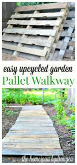 ways to wood pallets in the garden