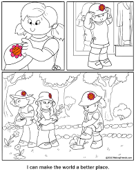 Coloring Page Make The World A Better Place Makingfriends