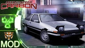 Toyota Sprinter Trueno NFS Carbon Mod Showcase - YouTube