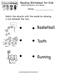 Pictures on Printable Kindergarten Reading Worksheets, - Easy ...