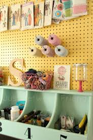 Mind Blowing Pegboard Decoration For Craft Room Design Ideas : Wonderful  Craft Room Design Ideas With