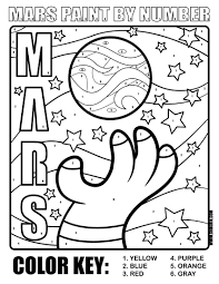 Planet Mars Printables Coloring Page | ECEAP | Pinterest | Planets ...