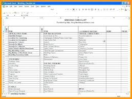 Excel Wedding Checklist Planning Cooperative Free Printable Full