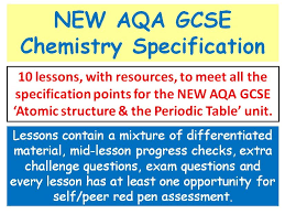 NEW AQA GCSE Chemistry - 'Atomic Structure & the Periodic Table ...