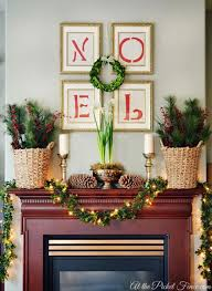 Pick up matching gold frames and display red letters that spell Noel, or  your favorite Christmas word or phrase, for an easy DIY wall decoration.