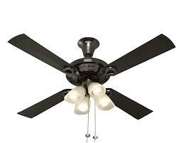 Usha Fontana Lotus 1230mm Ceiling Fan With Decorative Lights Black Chrome