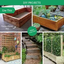 macrocarpa garden planter boxes