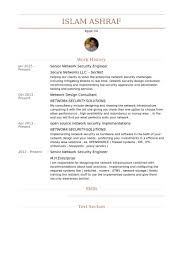 Network Security Engineer Resume Samples Visualcv Resume Samples
