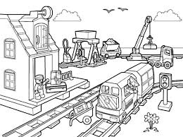 Coloring Page Of A City At Getdrawingscom Free For Personal Use