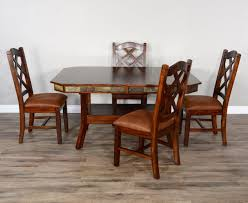 Sunny Designs Dining Chairs Sunny Designs Santa Fe 2 Rustic Dining Table Set For 4