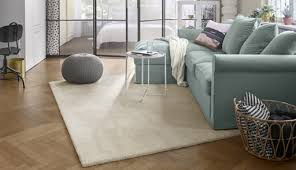 stoense low pile rug in off white