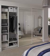 mirror wardrobe. white edge mirror door wardrobe e