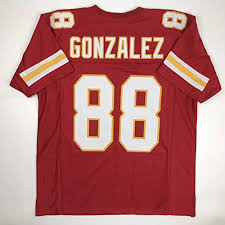 Custom logos Brands Kansas Stitched Red Men's Size Gonzalez Collectibles Sports New Amazon Tony No Xl com Jersey Football City Unsigned