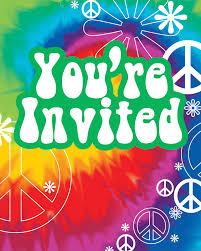 Tie Dye Fun Invitations 8 Ct