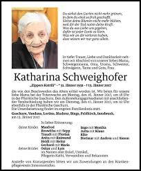 Katharina Schweighofer Jahresgedächtnis Vn Todesanzeigen