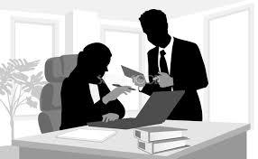 仕事を教える女性ビジネス パソコン無料背景イラスト15619 素材good