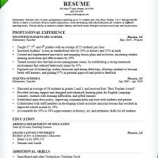 Sample Elementary Teacher Resumes Elementary Sample Elementary Math ...