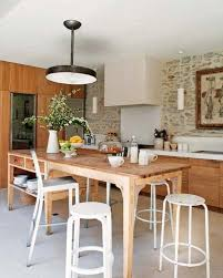 Eclectic Kitchen Eclectic Kitchen Design With White Chair And Wooden Table 1496