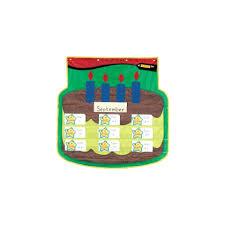 School Smart Birthday Cake Pocket Chart 34 X 34 Inches On