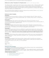 Sample Of Reference Letter For An Employee Sample Reference Letters For Employment Character Reference Letter