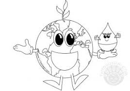 Disegno Di La Terra E Il Sole Da Colorare Per Bambini Con Disegno