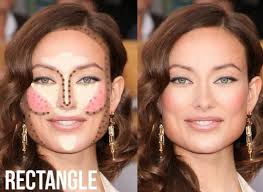 contouring for different face shapes. for rectangle shaped face, contouring different face shapes