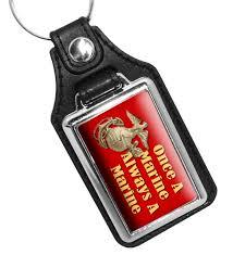Once A Marine Always A Marine Once A Marine Always A Marine Leatherette Key Ring