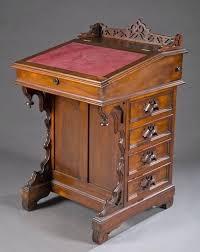 desk with side drawers a walnut davenport writing desk scrolling leaf pierced gallery on top kidkraft desk with side drawers