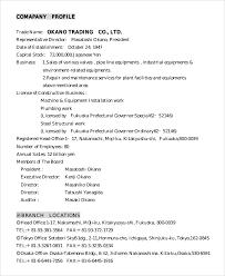 Document Company 8 Sample Company Profiles Pdf