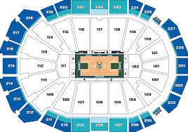 Bucks Seating Chart Full Season 2019 20 Milwaukee Bucks