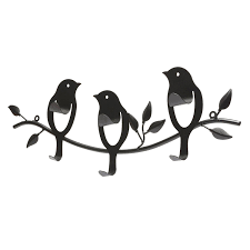 Bird Coat Rack BIRD Decorative Wall Hooks 32