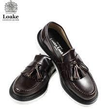 roque loake 623 loafer tassel loafer polished tassel loafer fitting e made in uk leather shoes
