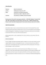 Shine Job Posting Job Posting Copy Employer Merlin Entertainments Job Title
