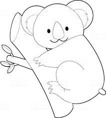 簡単なカラーリング動物のお子様コアラ お絵かきのベクターアート素材