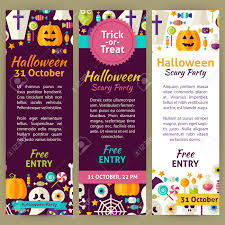 halloween holiday party invitation template flyer set flat design halloween holiday party invitation template flyer set flat design vector illustration of brand identity for