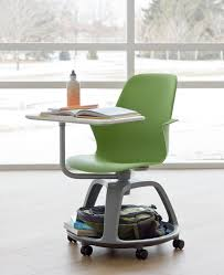 school desk with attached chair and wheels steelcase made