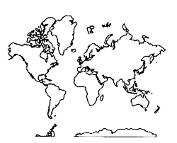Small Picture All Around World Map Coloring Page Download Print Online