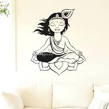 meditation philosophy home decor wall stickers yoga creation removable vinyl art decals interior decoration