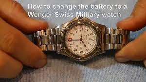 Wenger Watch Battery Chart Wenger Swiss Military How To Change The Battery To A Quartz Watch