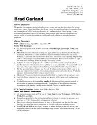 Cover Letter Job Objectives For Resume Sample Career Examples