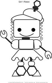 Small Picture Robot Girl 2 Coloring Page httpwwwkidscanhavefuncomrobot
